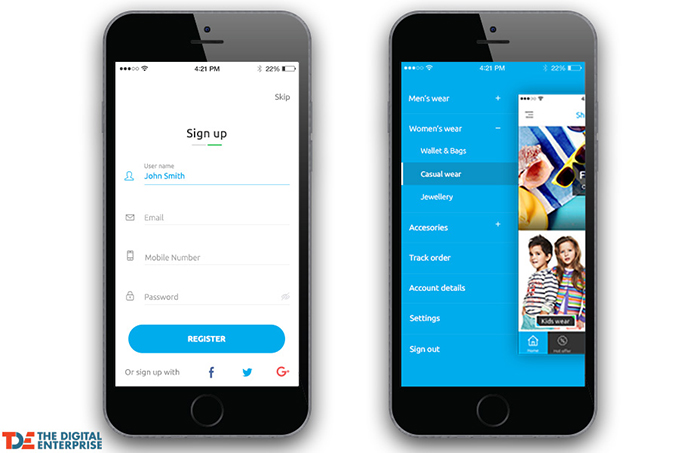 Must-have feature for your mobile e-commerce app – Easy registration