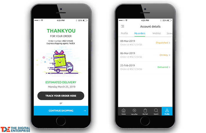 Must-have feature for your mobile e-commerce app – Order tracking and logistics integration